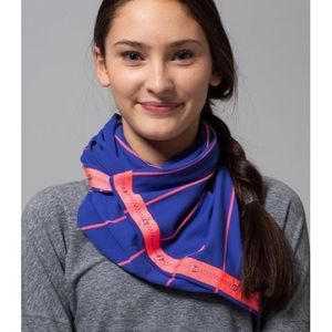 Ivivva Lululemon Blue Pink Striped Scarf